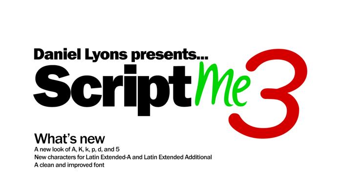 ScriptME 3 Font poster
