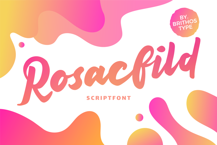 Rosacfild Font poster