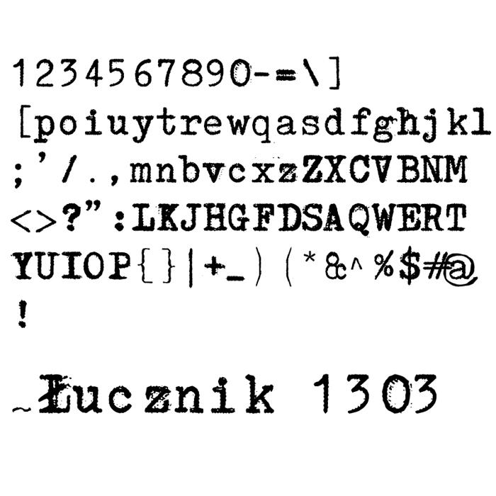 Łucznik 1303 Font poster