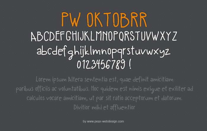 PW Oktobrr Font poster