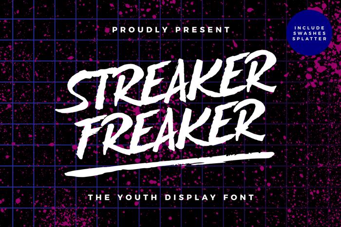 Streaker Freaker Font poster
