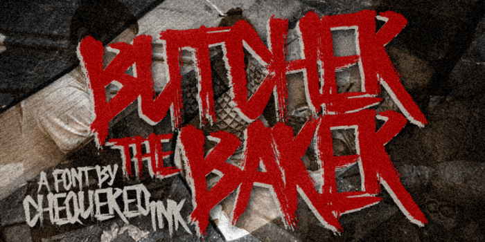 Butcher the Baker Font poster