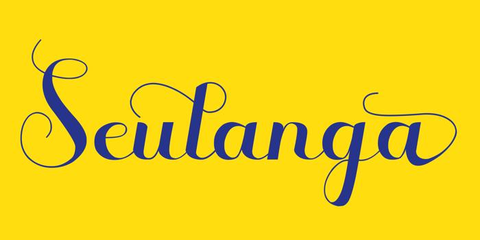 Seulanga Font poster