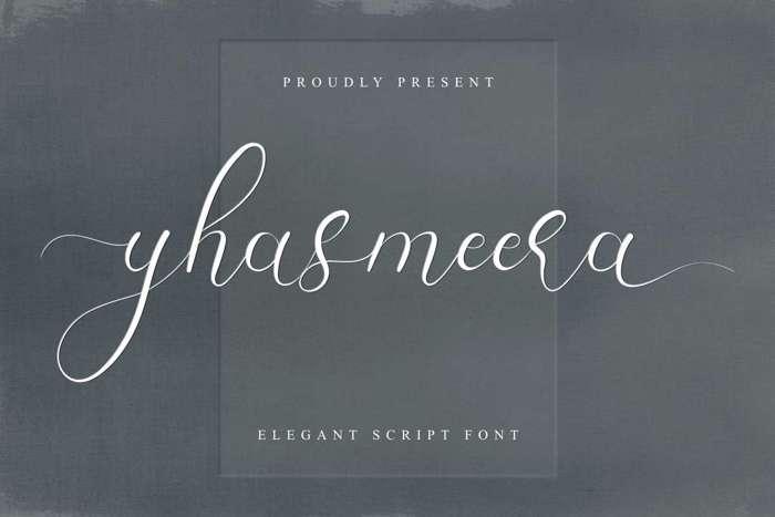 Yhasmeera Font poster