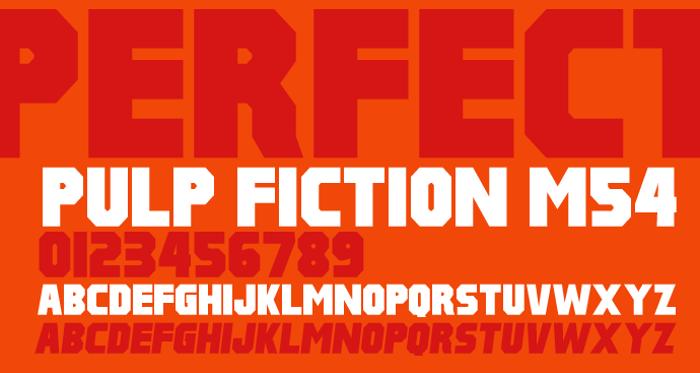 Pulp Fiction M54 Font poster