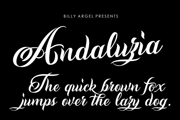 Andaluzia Font poster