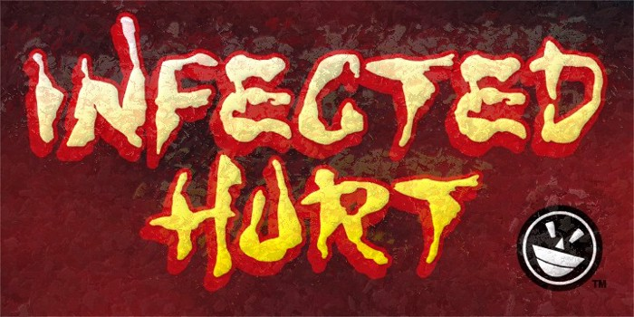 WILD3 Infected Hurt Font poster