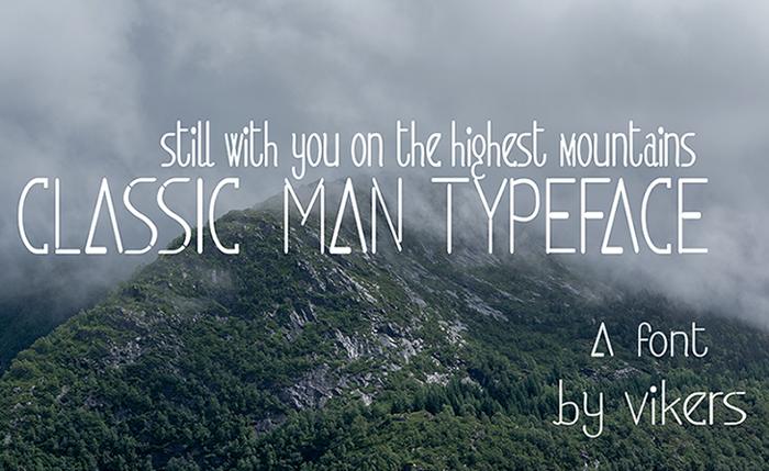 classicman Font poster