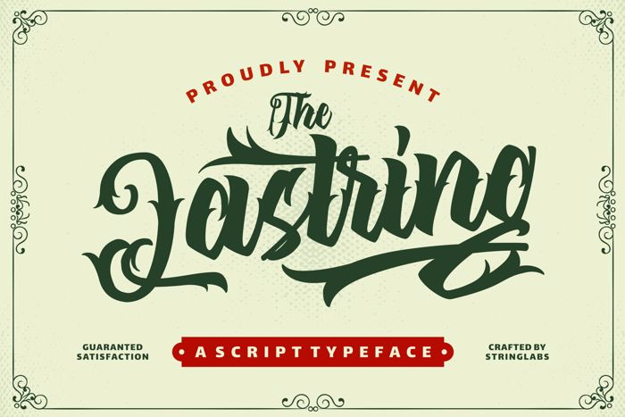 The Lastring Font poster