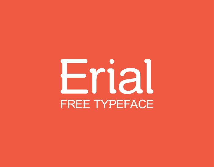 Erial Font poster
