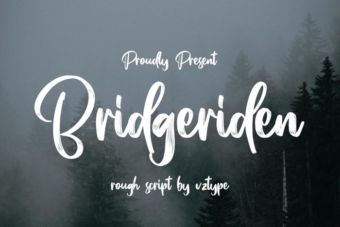 Bridgeriden Font poster