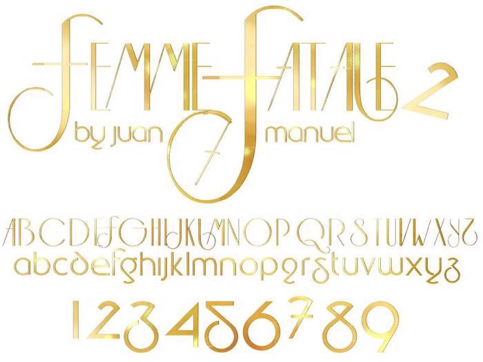 FEMME 2 Font poster