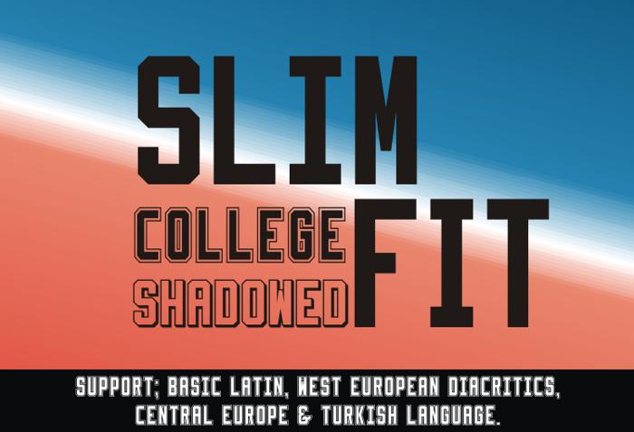 Slimfit Font poster