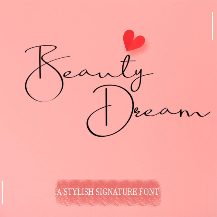 Beauty Dream Font poster