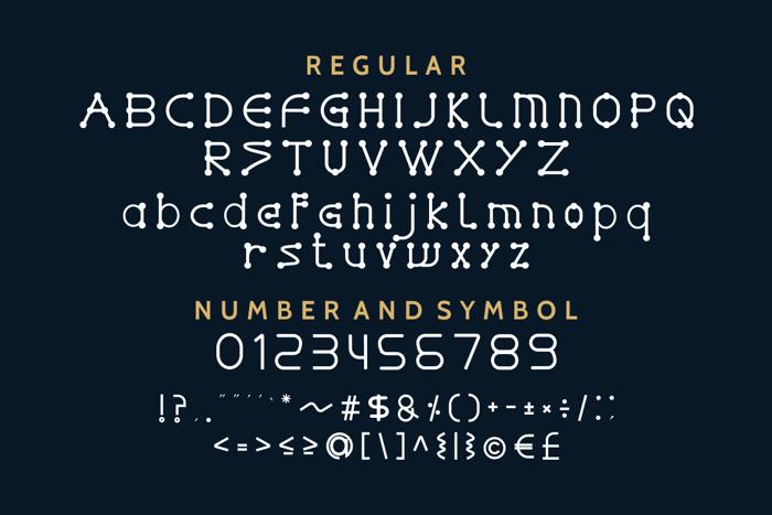 GLADWIN Font poster