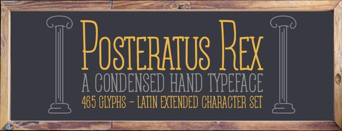Posteratus Rex Font poster