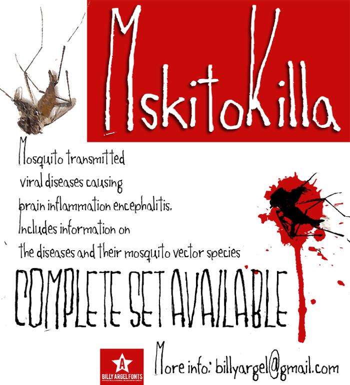 MSKITOKILLA Font poster