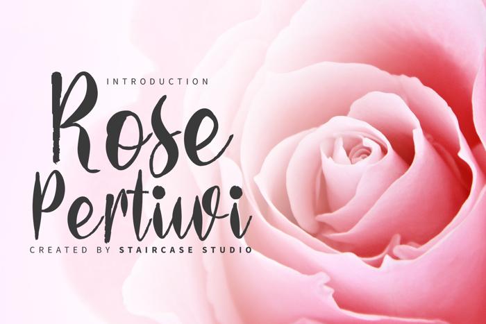 Rose Pertiwi Font poster