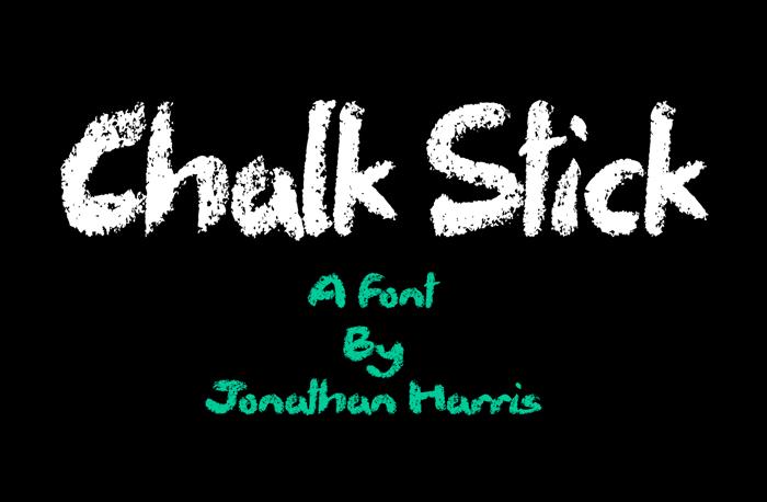 Chalk Stick Font poster
