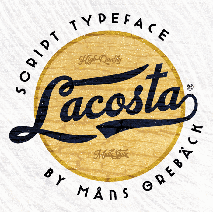 Lacosta Font poster