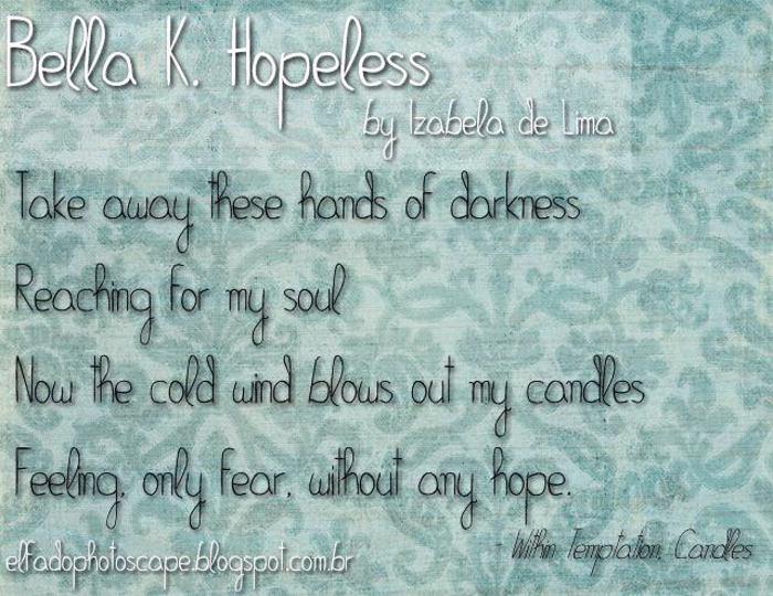 Bella K. Hopeless Font poster