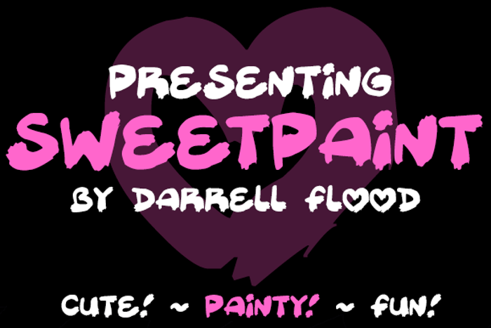 Sweetpaint Font poster