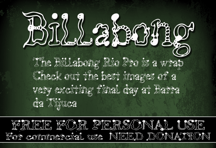 CF Billabong Font poster