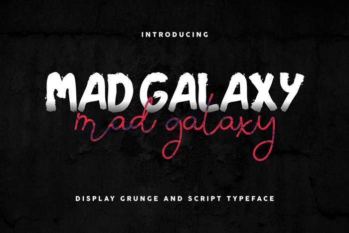 Mad Galaxy Font poster