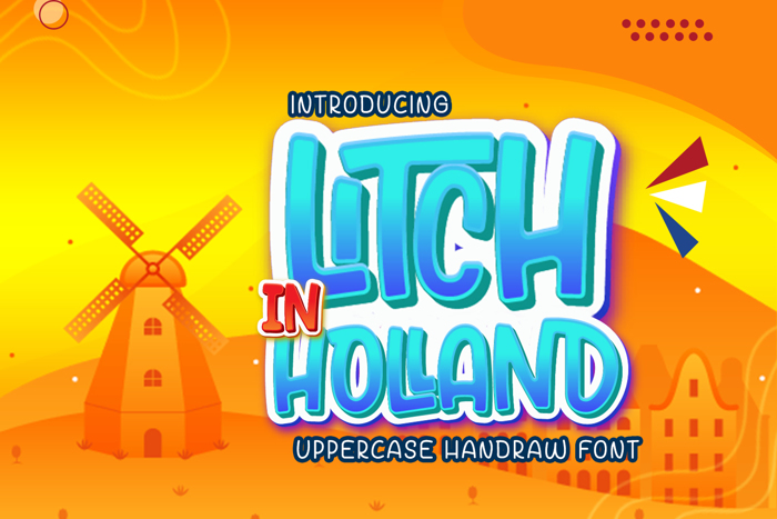 Litch In Hollad Personal Used Font poster