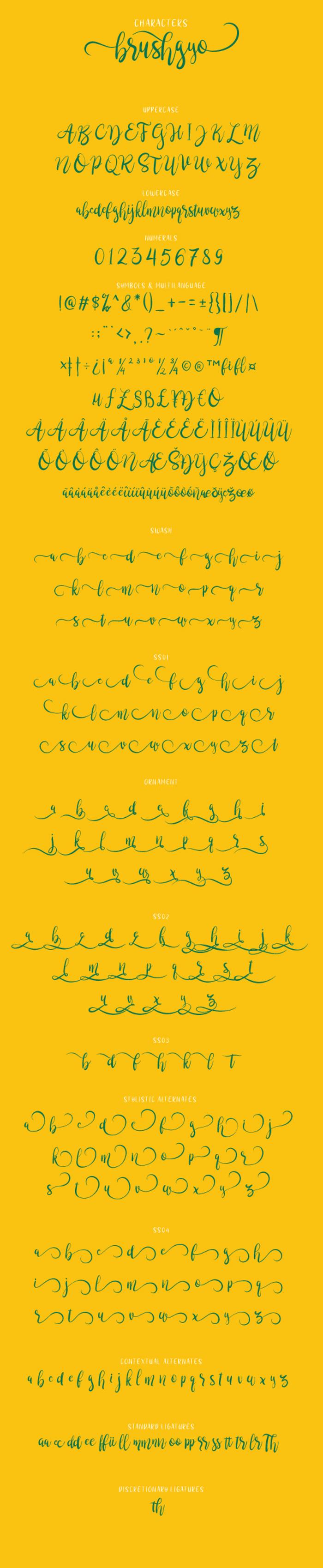 brushgyo Font poster