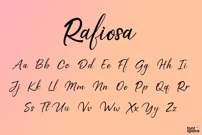 Rafiosa Font poster