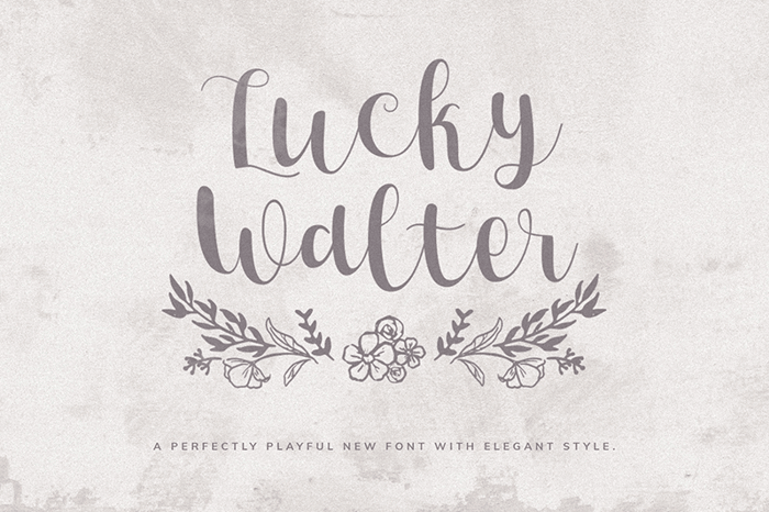 Lucky Walter Font poster