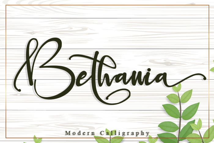 Bethania Font poster