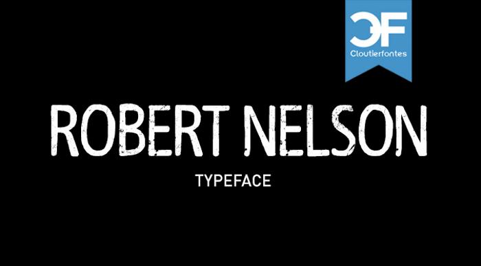 CF Robert Nelson Font poster