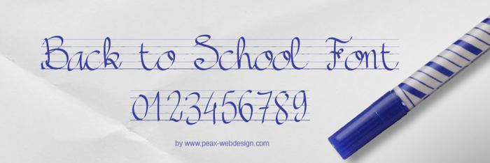 PWBacktoSchool Font poster