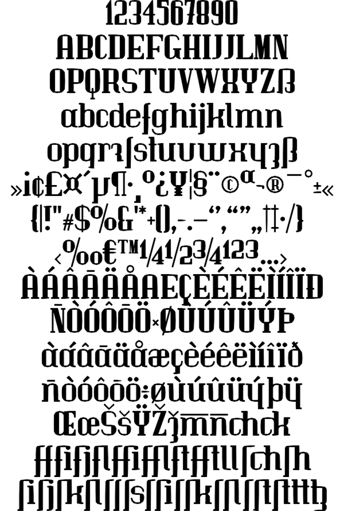 Immermann Font poster