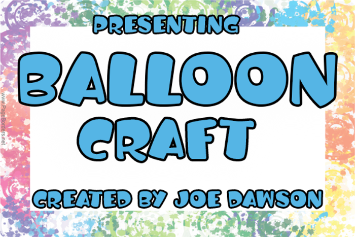 Balloon Craft Font poster