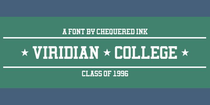 Viridian College Font poster
