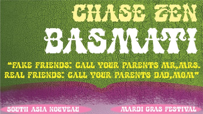 CHASE ZEN BASMATI Font poster