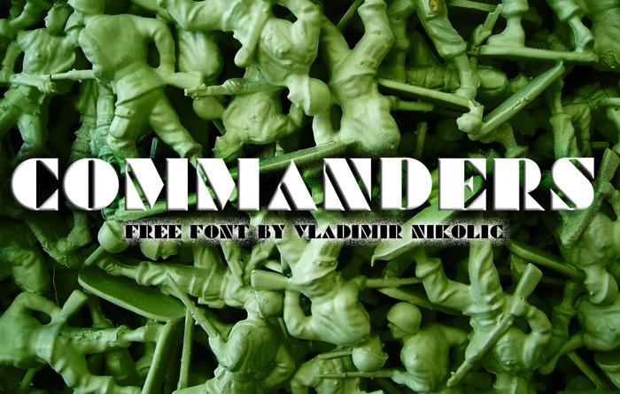 Commanders Font poster