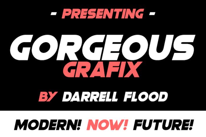 Gorgeous Grafix Font poster