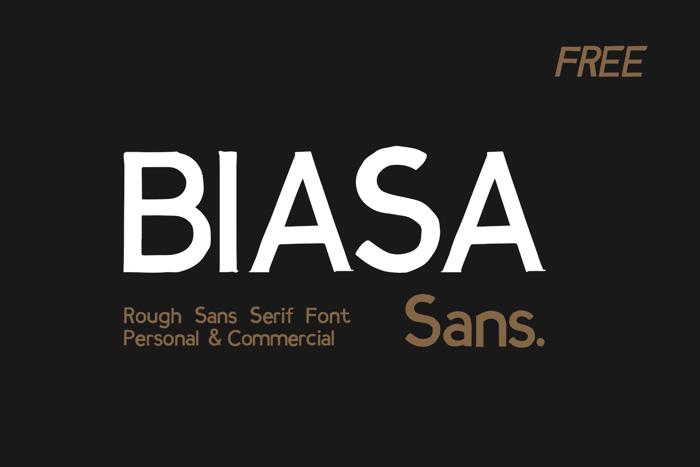 BIASA SANS Font poster