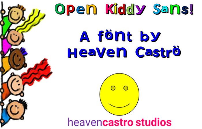 Open Kiddy Sans poster