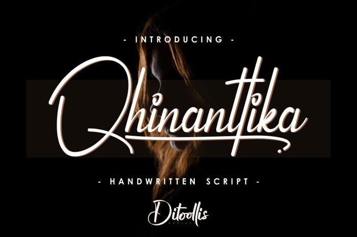 Qhinanttika Font poster
