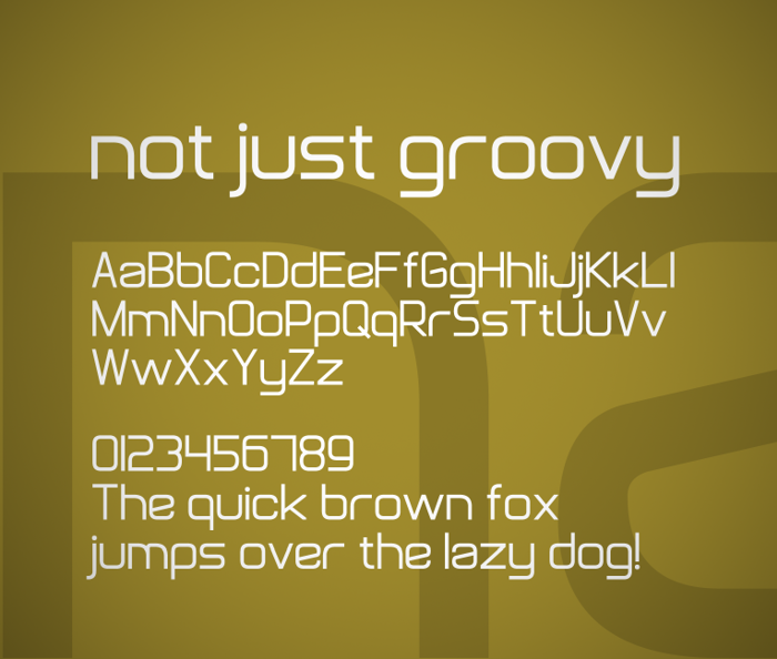 Not Just Groovy Font poster