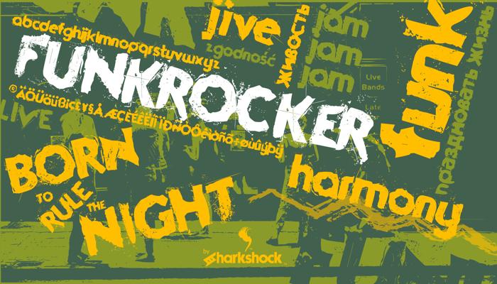Funkrocker Font poster