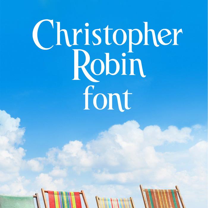 Christopher Robin Font poster