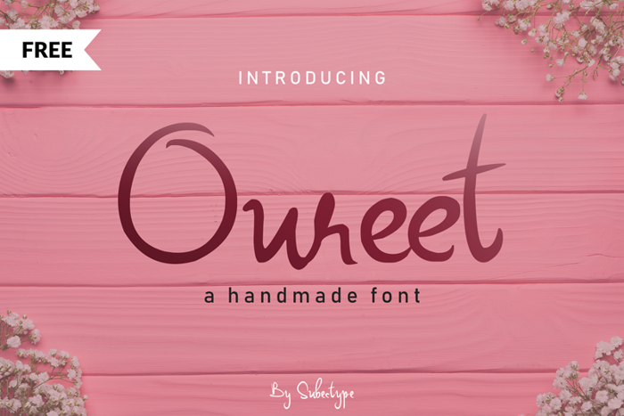 Oureet Font poster