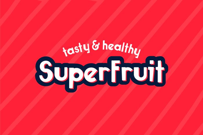 Superfruit Font poster