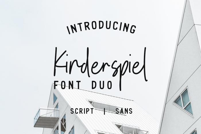 Kinderspiel Script DEMO Font poster